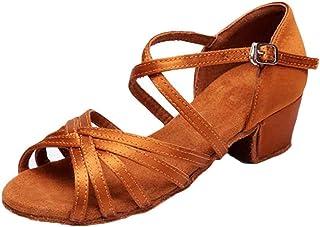 Huicai Chaussures de Danse Latine pour Filles Chaussures décontractées à Bout Ouvert à Bout Ouvert