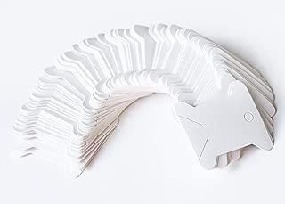 100 Pieces Floss Bobbins Paper Cross Stitch Embroidery Thread Organizer Cardboard Floss Bobbins DIY Crafts Floss Bobbins Thread Bobbin Card (White)