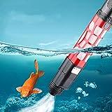 Oyria Pompe à sable électrique 2 en 1 pour aquarium - Changeur d'eau automatique - Aspirateur de gravier