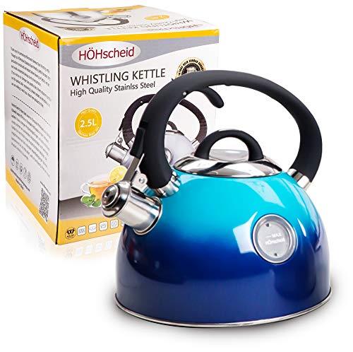 tea kettle stovetop blue - 9