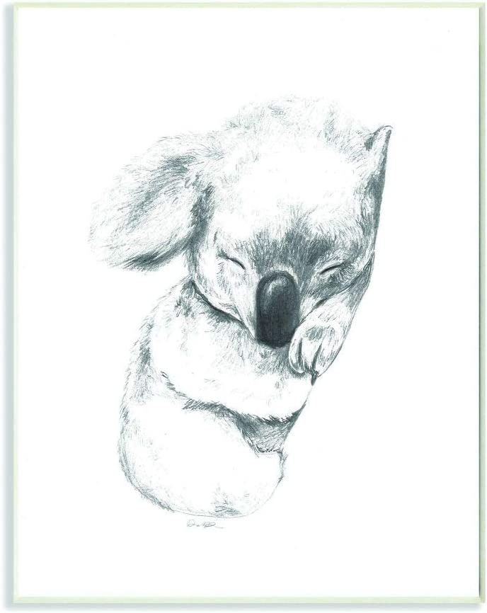 Bombing new work Stupell Industries Cute Koala Baby Neutral Grey Department store Animal Drawing
