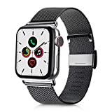 VATI Compatible with Apple Watch Band 38mm 40mm, Stainless Steel Mesh Loop Sport Wristband with Adjustable Magnet Replacement Band Compatible for iWatch Apple Watch Series 5/4/3/2/1, Space Gray