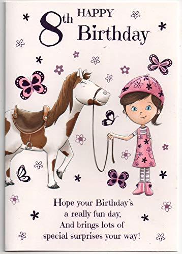 Biglietto Di Auguri Di Compleanno Per 8 Anni, Per Bambina