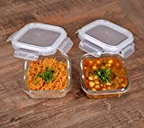 Cutting EDGE Glass Food Container, 320 Ml Square, for Kitchen Stackable Storage