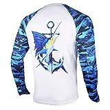 Palmyth Fishing Shirt for Men Long Sleeve Sun Protection UV UPF 50+ T-Shirts with Pocket (Sailfish/Anchor, XXX-Large)