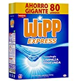 Wipp Express Detergente En Polvo Azul - 80 Lavados, Negro, Estandar, 5200 Gramo