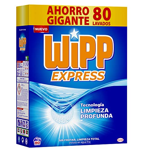 Wipp Express Detergente Polvo Azul para lavadora 80 Lavados