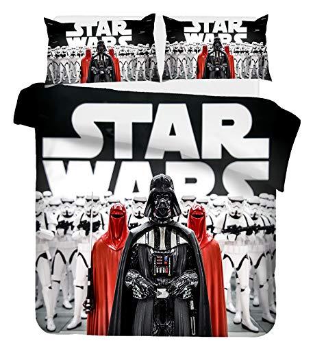 Goplnma Star Wars - Juego de cama (funda nórdica y funda de almohada de 1,200 x 200 cm), diseño de Star Wars