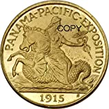 Beautiful Collection of Coins United States 2 1/2 Dollars Panama - Pacific Exposition 1915 S Brass Copy Coins for Dad/Boyfriends/Husband Gift Forever