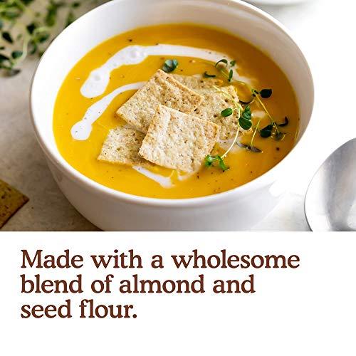 Simple Mills Almond Flour Crackers, Fine Ground Sea Salt, 4.25 oz, 6 count