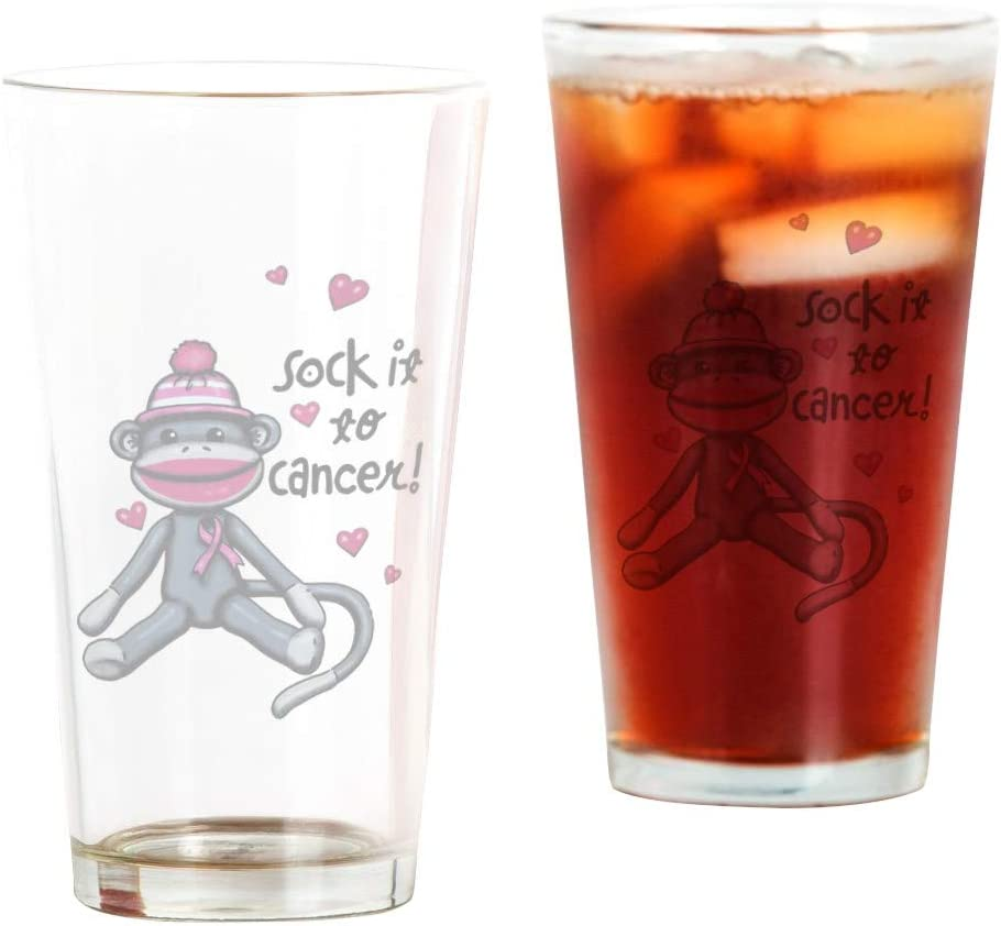 Pint Drinking Glass Sock It Ranking High quality new TOP18 To Pink Cancer Ribbon