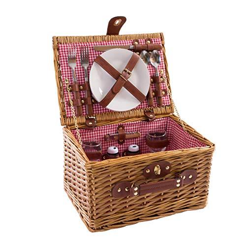 eGenot LYP2P-G-HR picknickmand, rood 34 x 25 x 20 cm