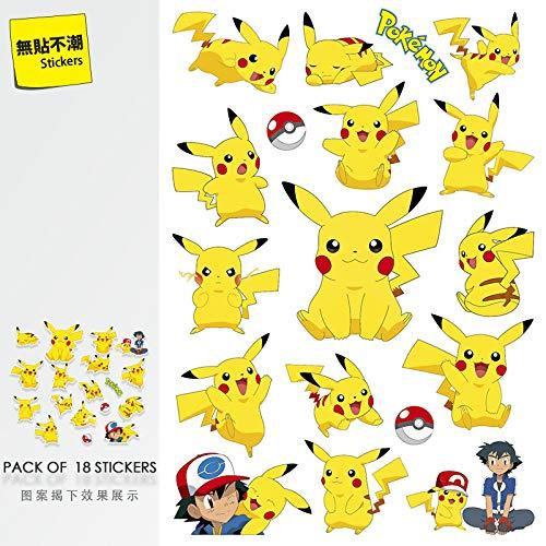 DONGJI Pokemon Pikachu suitcase stickers cartoon laptop stickers waterproof guitar skateboard ins