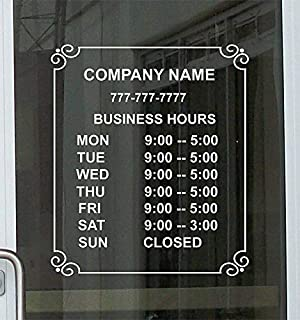 Super-Display Custom Store Office Business Hours Die Cut Vinyl Window Glass Door Decal Sticker Sign 12
