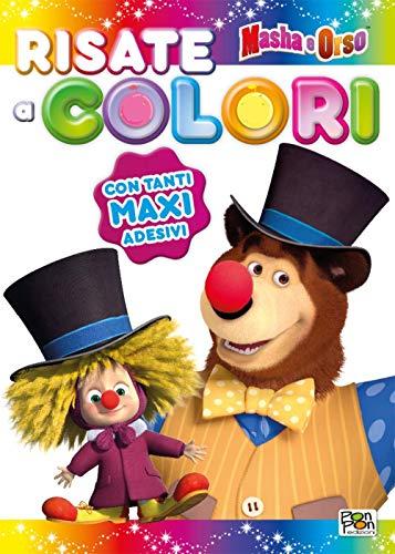 Risate a colori! Masha e Orso. Sticker & color. Con adesivi