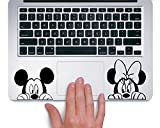 Mickey and Minnie Peeking Up Disney - Trackpad Apple Macbook Laptop Vinyl Sticker Decal