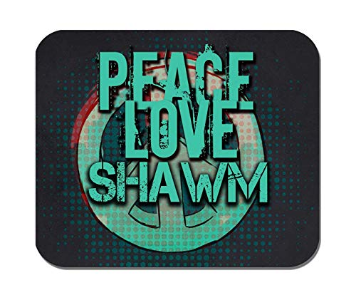 Makoroni - Peace Love Shawm Music- Non-Slip Rubber - Computer, Gaming, Office Mousepad