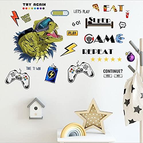Wenyun Juego de adhesivos de pared con mando de juegos, pegatinas de...