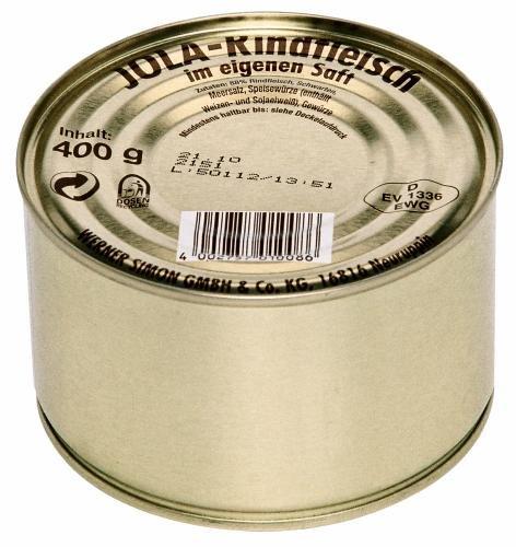 Jola Rindfleisch, 12er Pack (12 x 400 g Dose)