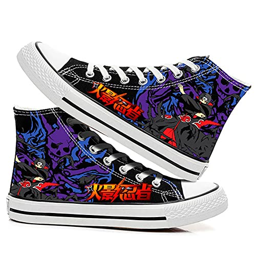MAZF Zapatos de Lona Naruto High Gang Unisex Cosplay Zapatos Casuales De Zapatillas con Cordones-40