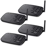 Hosmart 1/2 Mile Range 10-Channel Intercom System for Home or Office, Plug-and-Play Intercom, Easy to Use with Clear...