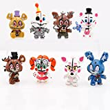 Inspired by Five Nights at Freddy's, Set of 8 PCS , Figures Toy Set , Figures Toys Dolls Toys Gifts, Cake Toppers, About 2.3-2.7 inches.