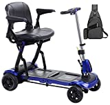 Drive ZooMe Flex Ultra Compact Folding Travel 4 Wheel Scooter, Blue &...