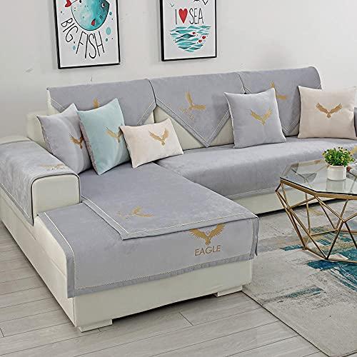 Antiincrustante Funda de sofá, Funda de sofá seccional para sofá, funda antideslizante para sofá de 3 cojines, Mueble Protector para mascotas Niños Niños Dog Cat (solo 1 pieza / No todo conjunto)-90