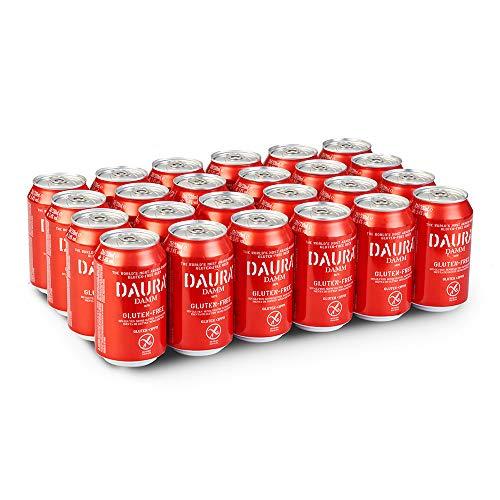 Daura Damm Cerveza Sin Gluten - Caja de 24 Latas x 330 ml - Total: 7.92 L
