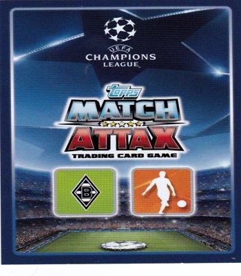 Topps Match Attax UK Champions League–Kids Strümpfe VFL BORUSSIA MÖNCHENGLADBACH 18Karte Team Set (inkl. Star Player + Duo)