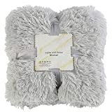 FinWell Plush Faux Fur Throw Blanket Reversible Fluffy Shaggy Cover Soft Warm Breathable Comfortable Sleeping Kids Gifts