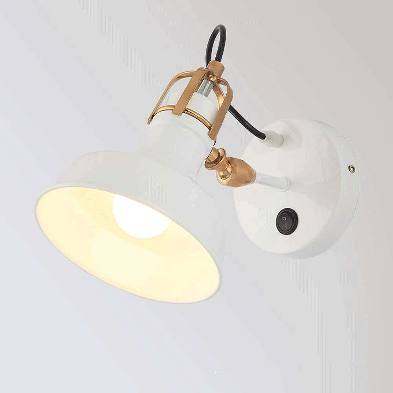 Wandleuchte Wand, Industrial Switch Bracket mit verstellbarer Wandhalterung einfacher Art-Massivholz-Auffahrt Raum Treppe LED-Lampe Nachttischlampe dekorativer Lampe