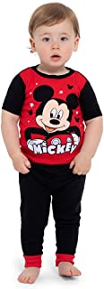 Disney Toddler Boys' Mickey Mouse 4-Piece Cotton Pajama Set