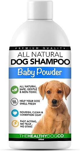 Shampoo e Balsamo per Cani al Talco Tutto Naturale   500ml   Shampoo per Cani Profumato Professionale   Il Miglior Sh...