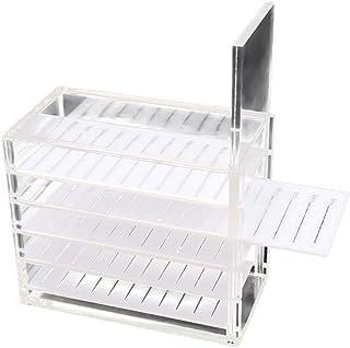 Minkissy False Eyelash Storage Box 5 Layers Eyelash Display Drawer Holder Case Makeup Container for Shop Store Salon