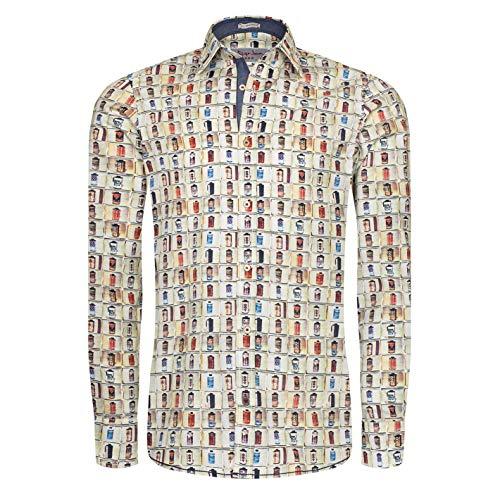 Signum - Detailverliebtes Rugged Shirt mit Vintage Druck - Gemustert - Modern Fit