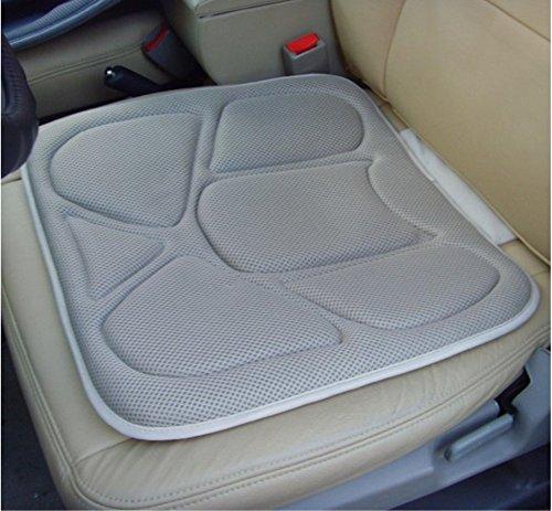 Asientos de automóvil grises cálidos en invierno, frescos en verano, algodón de memoria, silicona, cojines de asiento sanitario, esteras, esteras individuales