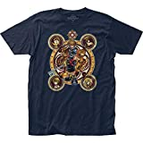 Impact Merchandising Kingdom Hearts Character Circles - Camiseta de Manga Corta - Azul Marino - X-Large