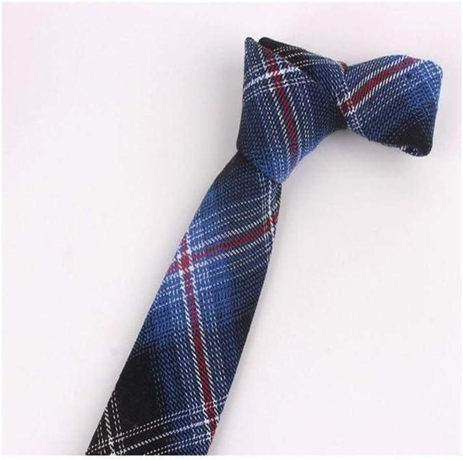 JINSUO Moonlight Star Tie-New Plaid Cotton Ties Skinny Neck Tie for Men Suits Mens Slim Necktie for Business Cravats 7cm Width Groom Neckties (Color : 8)