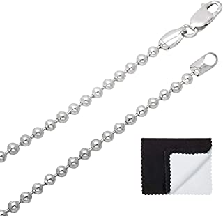 3mm 925 Sterling Silver Pallini Style Military Ball Chain - 18