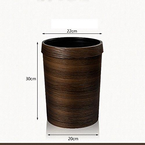 Boîtes à ordures en bois d'imitation en Europe