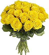 Green Choice Flowers - 36 ( 3 Dozen ) Premium Yellow Fresh Roses with 20 inch Long Stem Farm Fresh Flowers Beautiful Yellow Rose Flower Cut Per Order Direct from Farm Fast Free Delivery Long Lasting