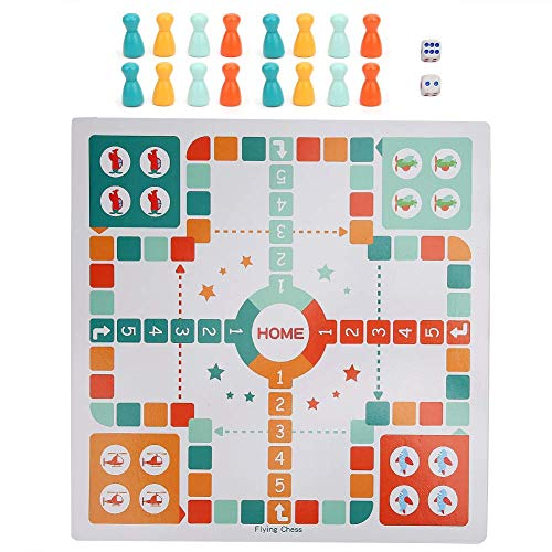 Juego de ajedrez de escalera de serpiente de ajedrez volador 2 en 1, juguete de ajedrez de serpiente multifuncional, juego de mesa educativo de ajedrez volador de madera para niños, niños, estudiantes