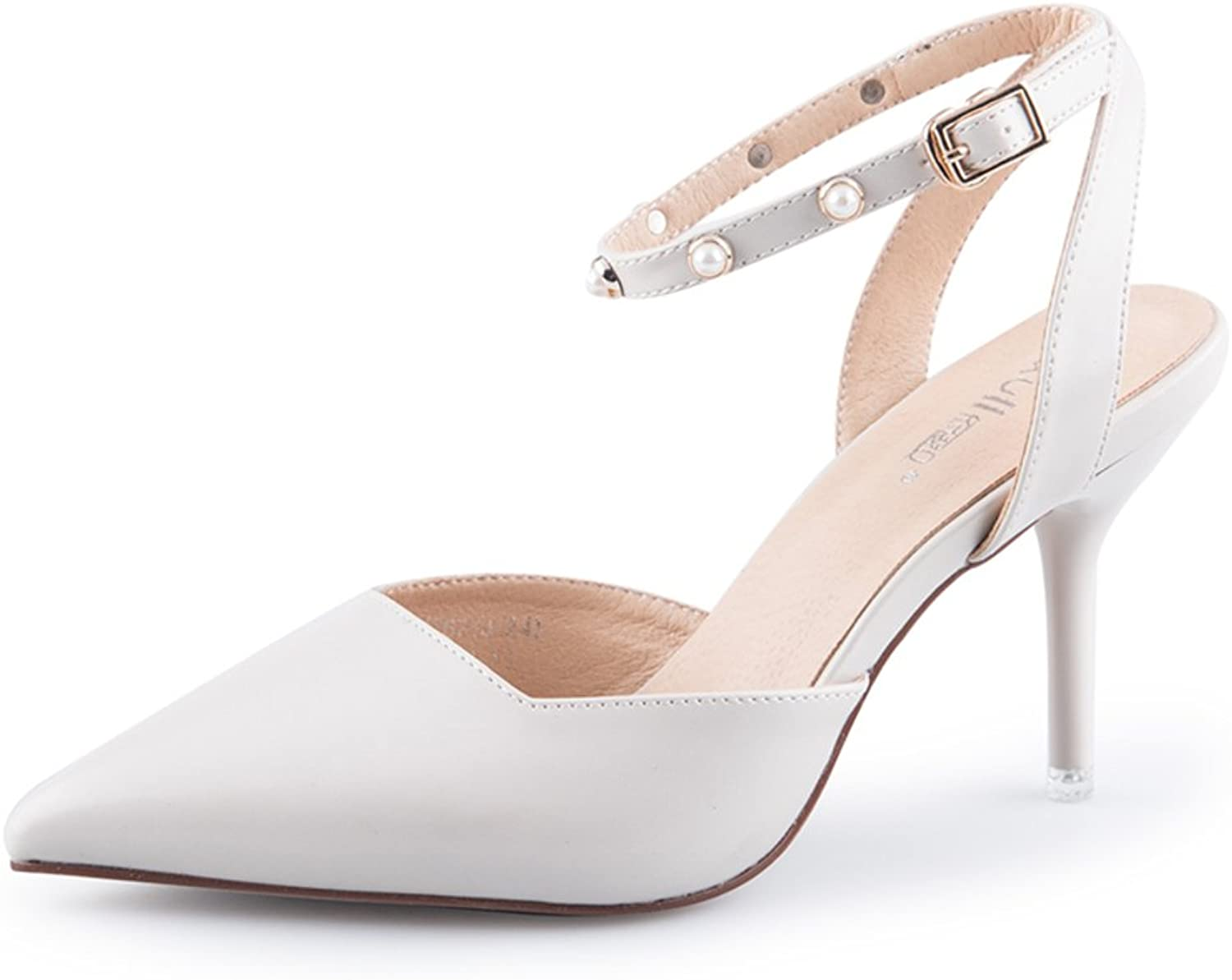 MET RXL Autumn Word with Sandals Stiletto Thin shoes Women's Pointy shoes
