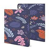 Étui coloré pour iPad 2020 Air 4 (11 pouces), motif floral sans couture avec support pliable et...