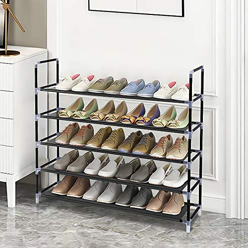 Nemore Shoe Rack with Simple Assembly Non-Woven Fabric Shoe Racks for Bedroom Cloakroom, Entryway with Durable and Stable