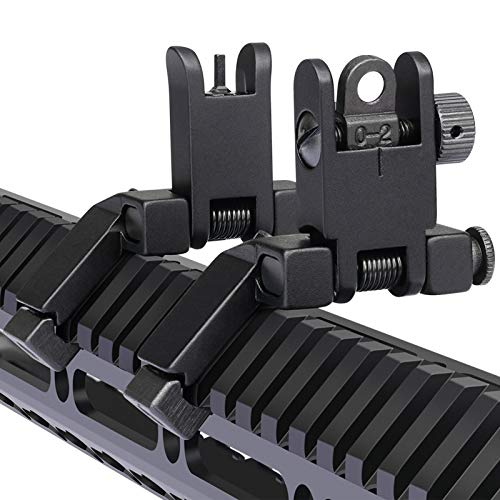 MARMOT 45 Degree Offset Flip Up Sight Low Profile Rapid Transition Front & Rear...