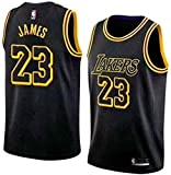 MTBD NBA Lebron James, NO.23 Lakers Retro, Camiseta de Jugador de Básquetbol, Bordado Transpirable y Resistente al Desgaste Camiseta de Fan de Hombres