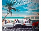 Fotomural Vinilo para Pared Paisaje Playa Tropical   Fotomural para Paredes   Mural   Vinilo Decorativo   Varias Medidas 200 x 150 cm   Decoración comedores, Salones, Habitaciones.