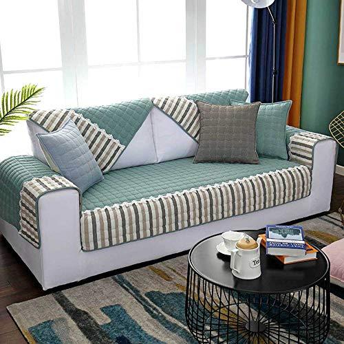 YSODFQL Tela de cojín para sofá 1 + 2 + 3 juego de combinación de algodón puro cuatro estaciones funda de sofá universal cubierta toalla cojín impermeable/A / 90 * 210CM